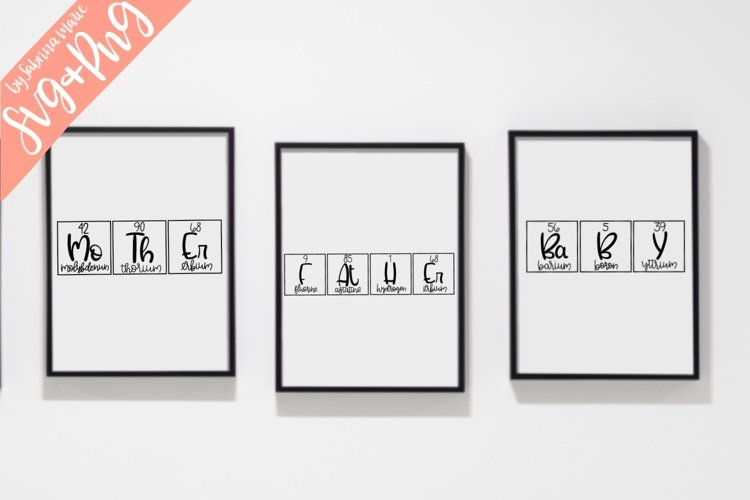 Mother/Father/Baby Periodic Table Bundle - SVG & PNG example image 1