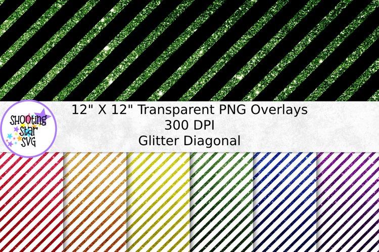 Glitter Diagonal Line Transparent Paper Overlay - Seamless