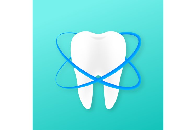 Teeth with shield icon design. Dental care concept. Teeth example image 1