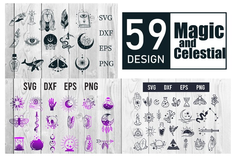 Magic and Celestial SVG bundle 59 designs