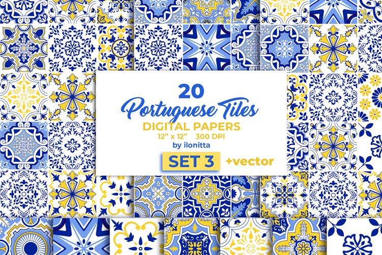 Portuguese Tiles Vector Papers Set3