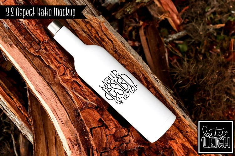 Stainless Steel White Wine Bottle Mockup example image 1