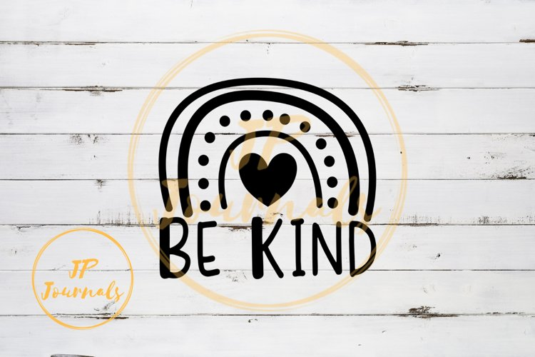 Be Kind Rainbow Doodle SVG example image 1