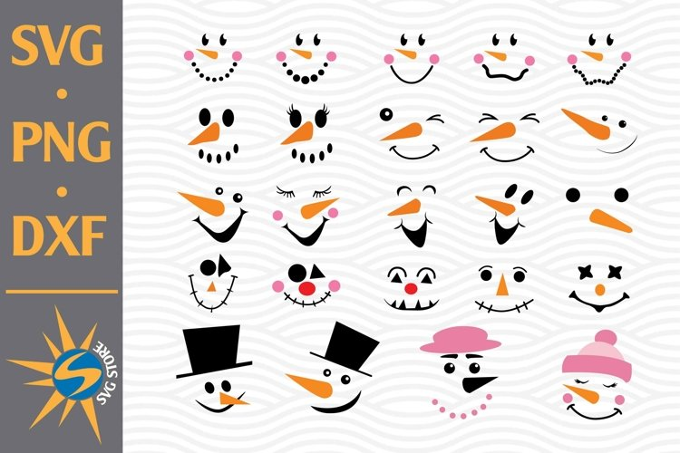 Snowman Face SVG, PNG, DXF Digital Files Include example image 1