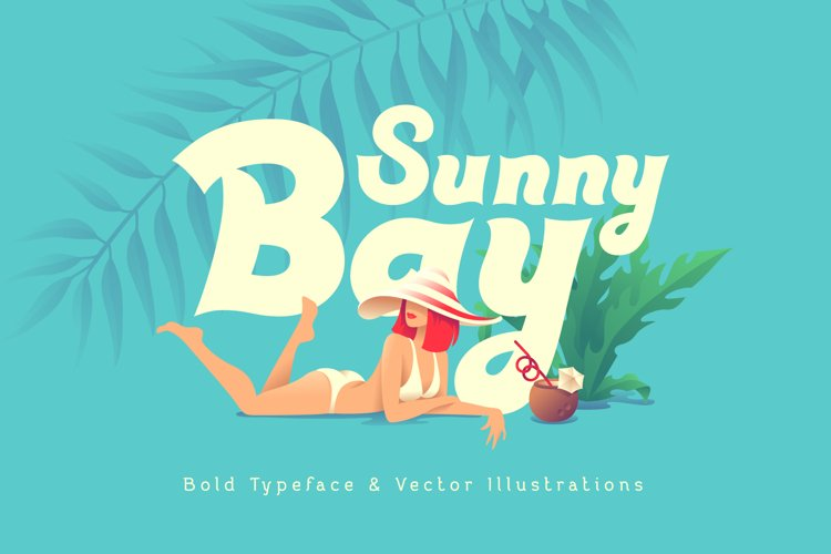 Sunny Bay font and graphics example image 1