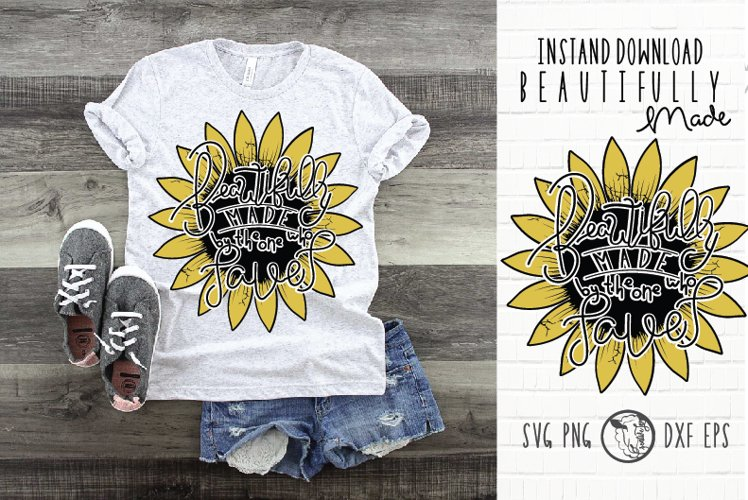 Instant Download|Distress SunFlower|Beautiful SunFlower svg