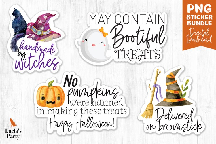 Halloween stickers, Packaging Sticker, Print and Cut