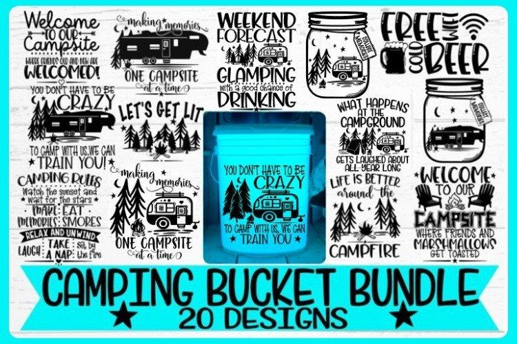 Camping Bucket Bundle - Best Sellers - 20 Designs - Vol 2