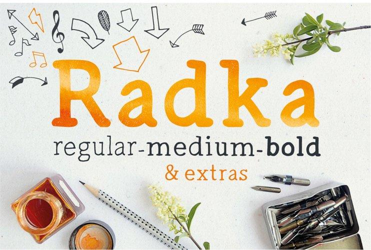 Radka: handmade font family + extras