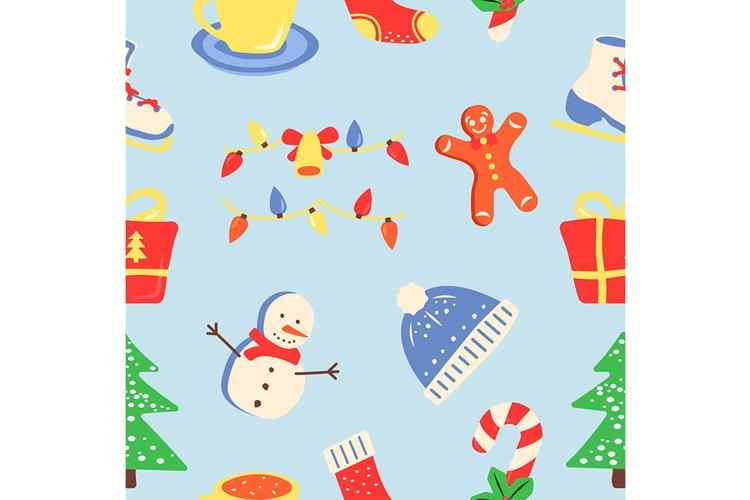 Winter season holiday abstract seamless pattern example image 1