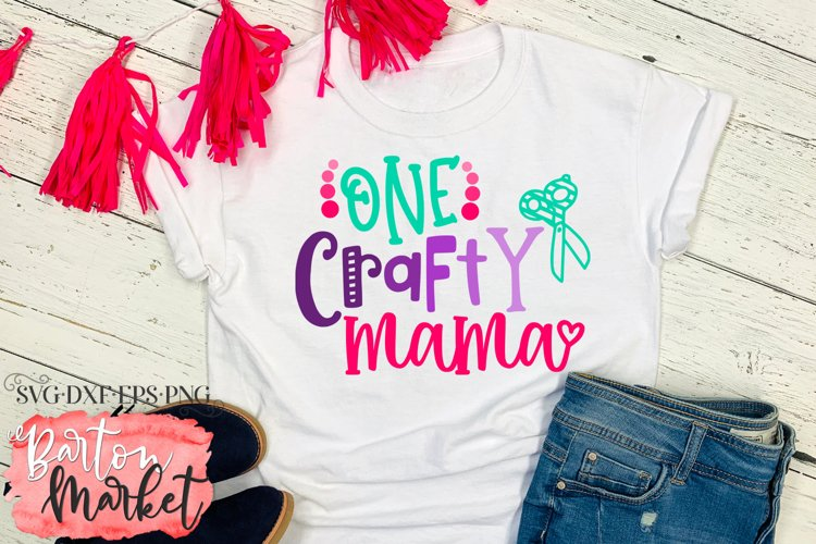 One Crafty Mama SVG DXF EPS PNG example 4