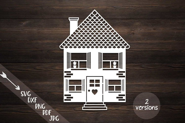 house svg home svg building cut file papercutting template