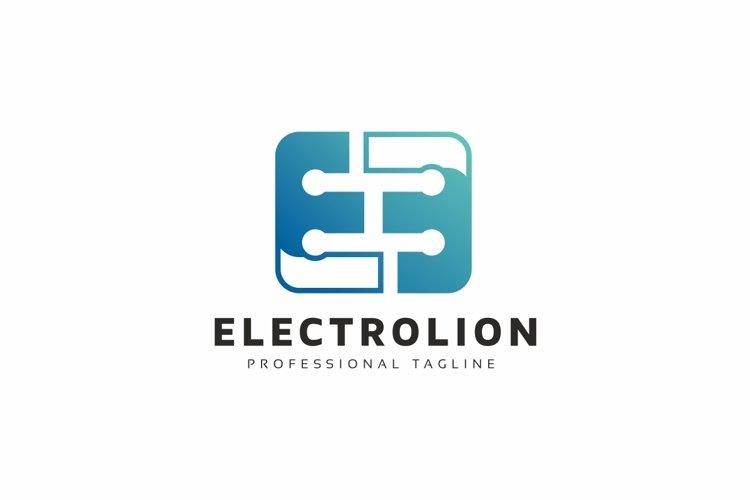E Letter Tech Logo example image 1