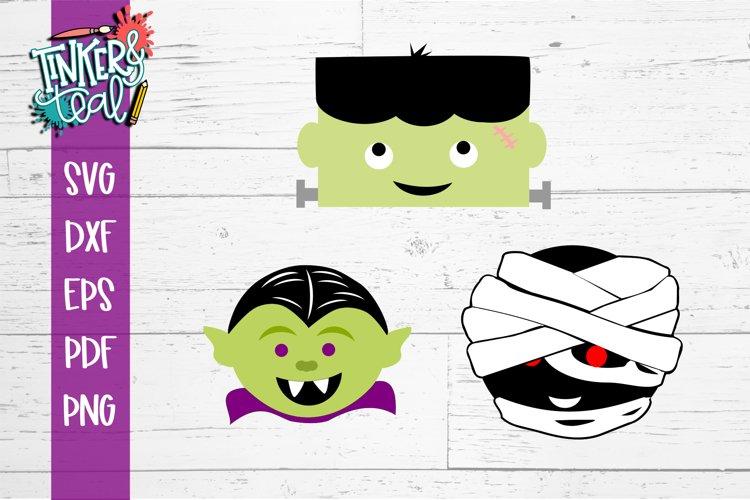 Halloween Mini Monsters SVG Clipart Bundle