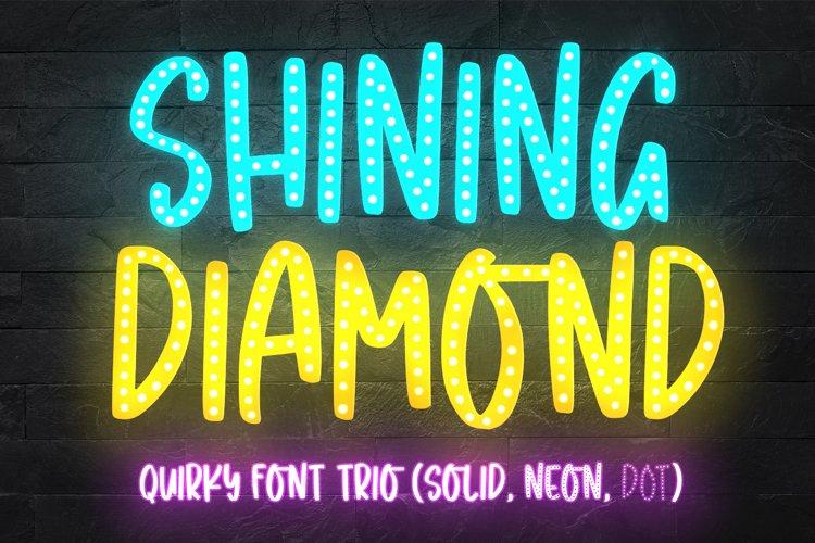 Shining Diamond - Font Trio - example image 1