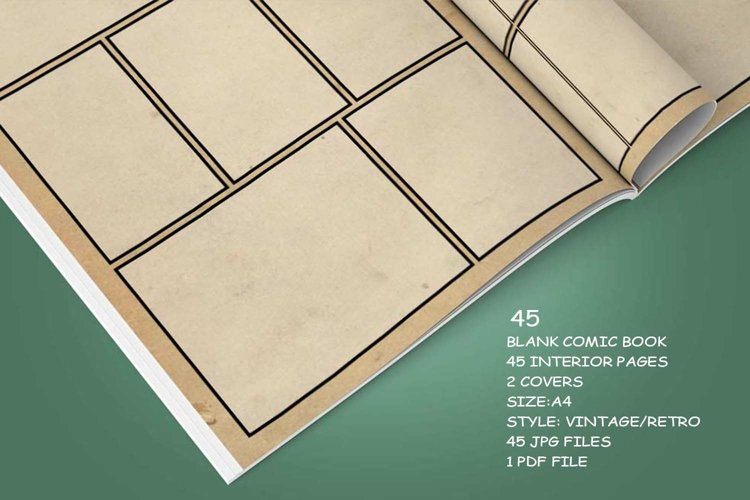 Blank Comic Book Interior Pages & Covers JPG-PDF-PSD-PNG example 3