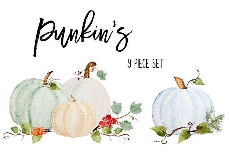Fall Pumpkin Clip Art - soft, subtle colors