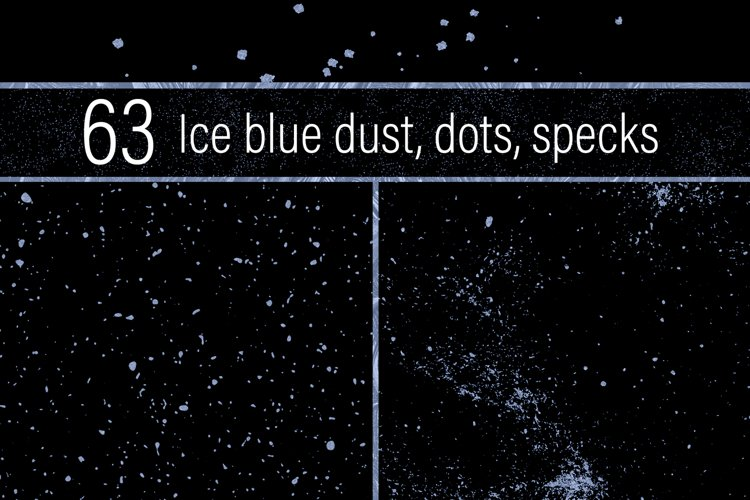 Ice Blue Dust, Dots and Specks example image 1