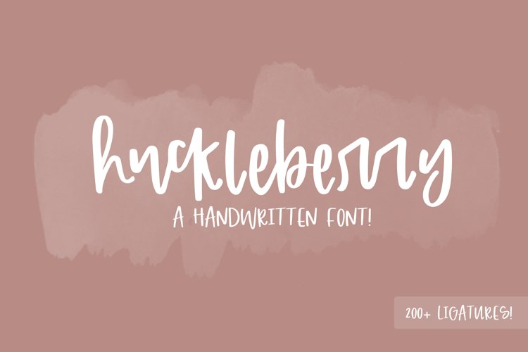 Huckleberry Font