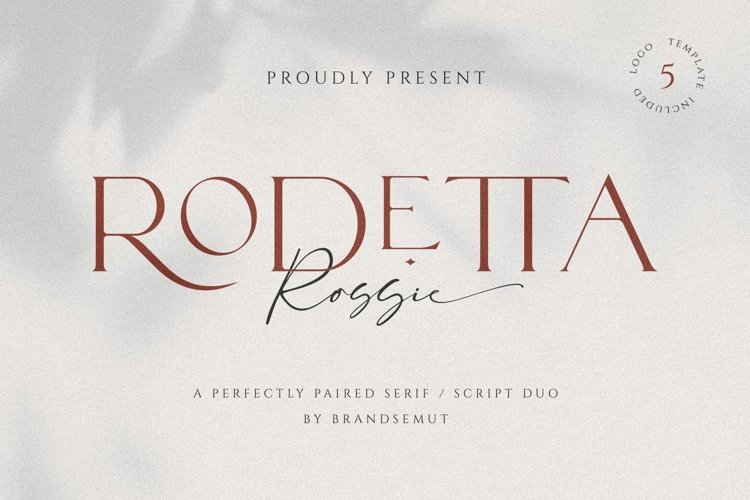 Rodetta Rossie Font Duo and Logos example image 1