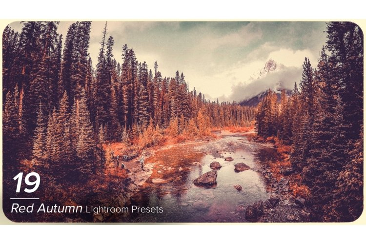 19 Red Autumn Lightroom Presets example image 1
