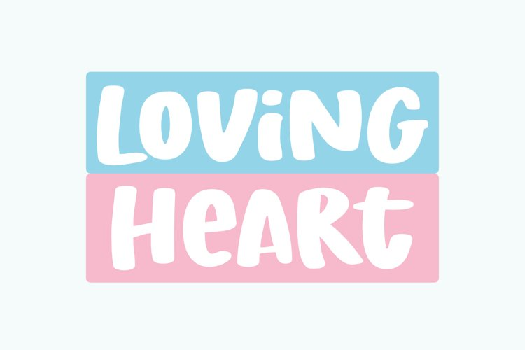 Loving Heart - a Fun Display Font example image 1