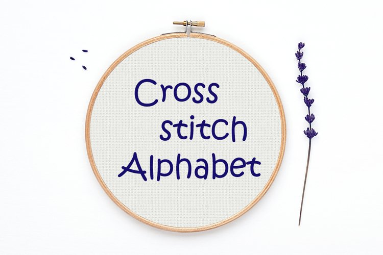 Cross stitch Alphabet pattern - Alph42
