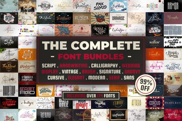 Best Seller Bundle - 174 Font!! The Complete Font Bundles!