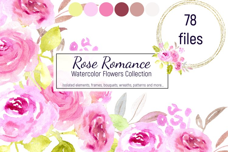 Rose Romance. Watercolor Collection.
