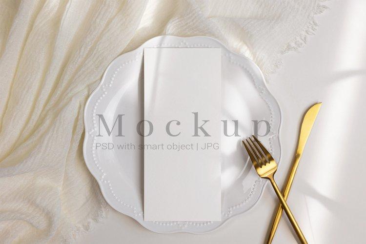 4x9 Card Mockup,Wedding Mockup,PSD Mockup