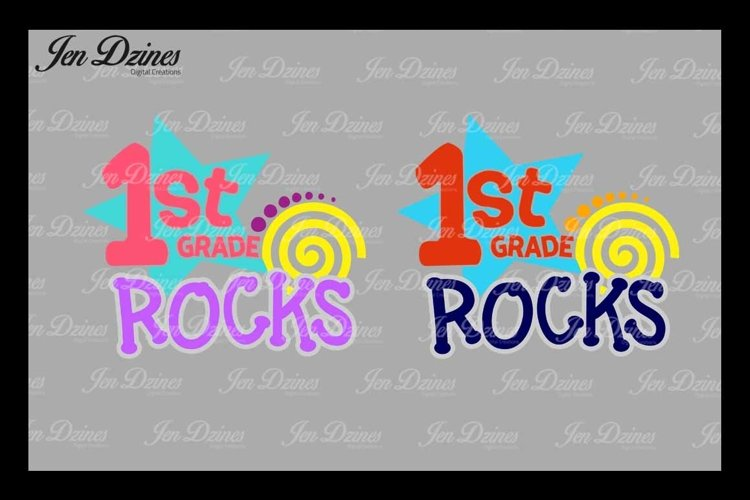 First Grade Rocks SVG DXF EPS PNG example image 1