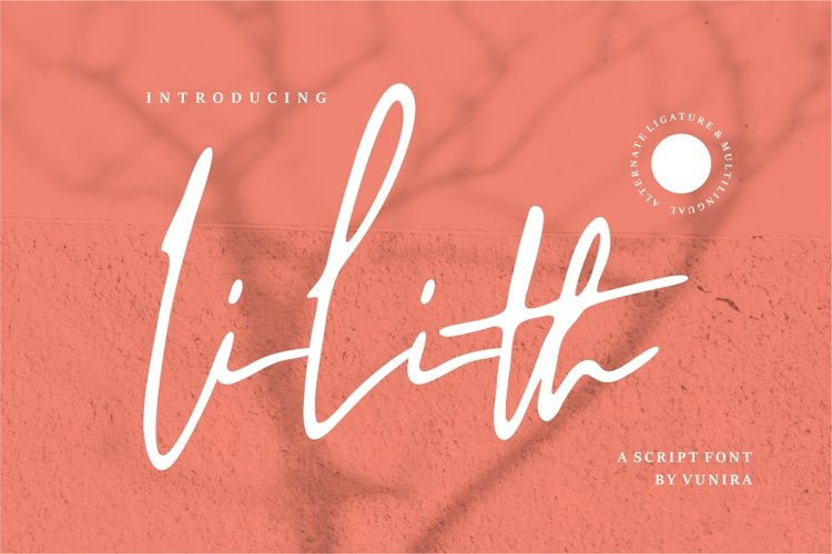 Lilith | A Script Font example image 1