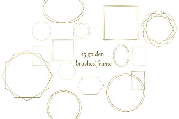 golden brushed frame Clipart PNG