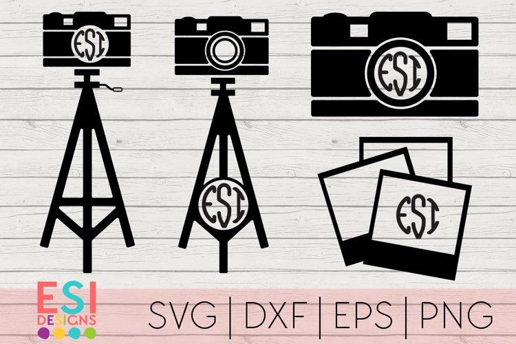 Photography Monogram Designs Set| SVG, DXF, EPS, PNG