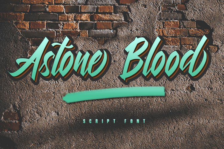 Astone Blood - Script Font