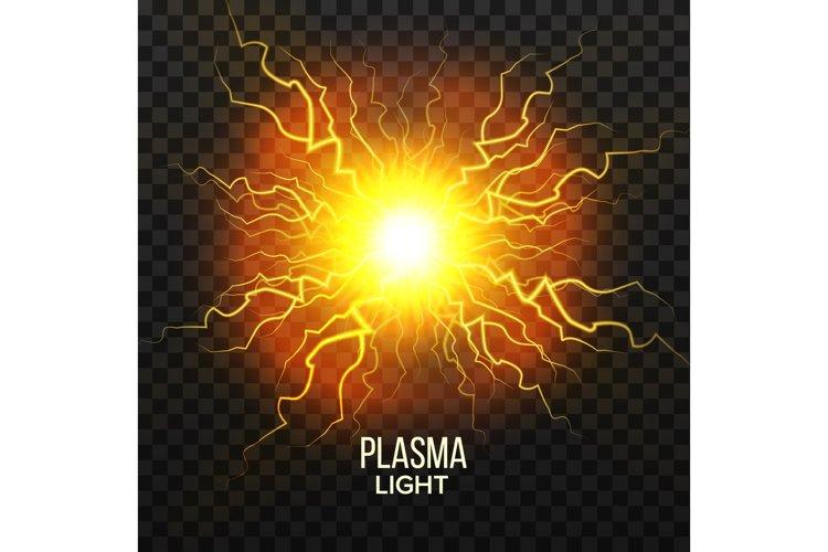 Fireball Plasma Vector. Lightning Effect. Magic Explosion. example image 1