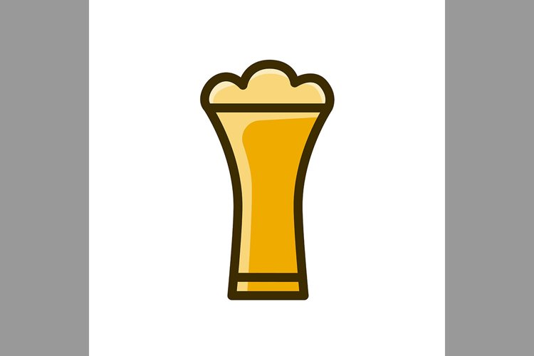 beer symbol brown color, Vector Illustration example image 1