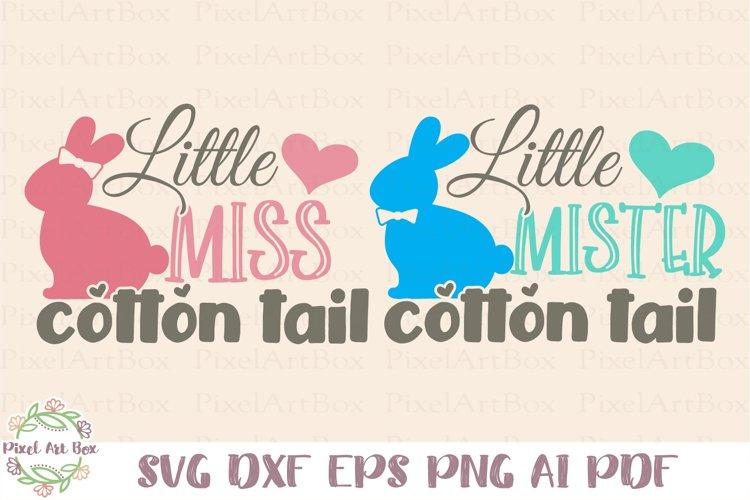 Little Miss/Mister Cotton Tail SVG Cut File - 2 Designs SVG