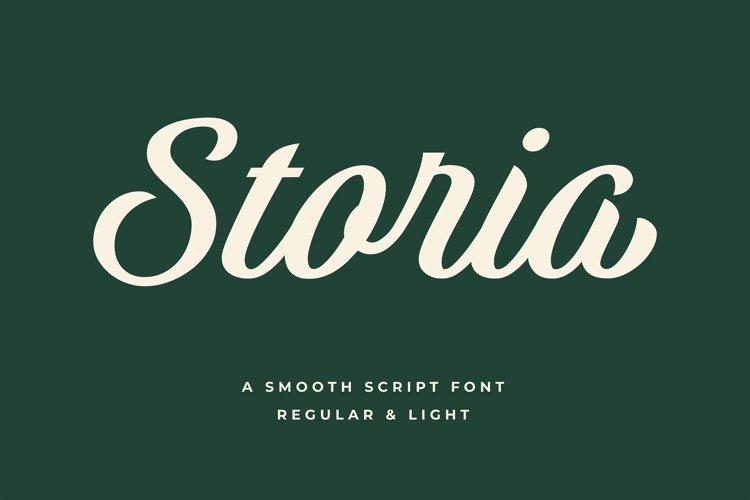 Storia Script Font example image 1