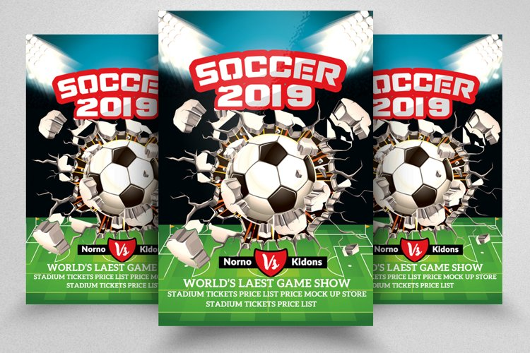 Soccer Match Championship Flyer example image 1