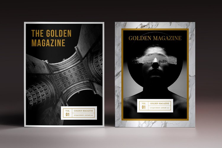 The Golden Magazine Indesign Template example image 1