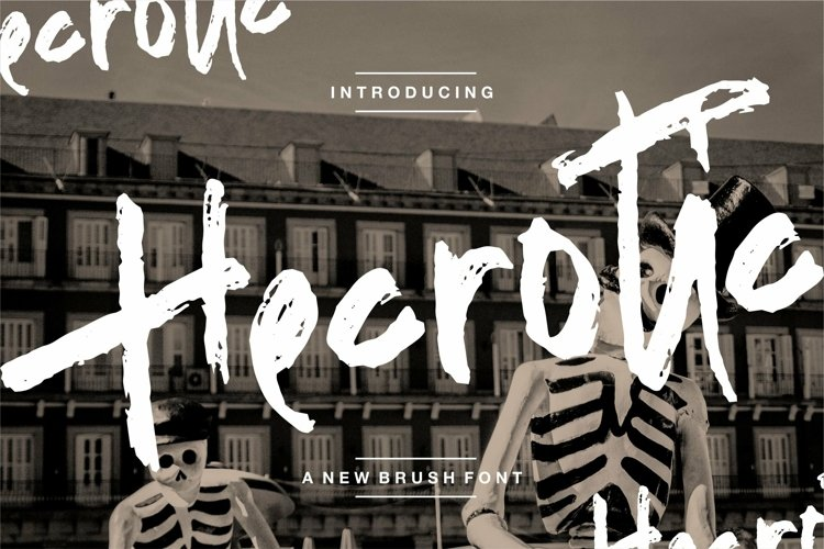 Web Font Hecrotic - A New Brush Font example image 1