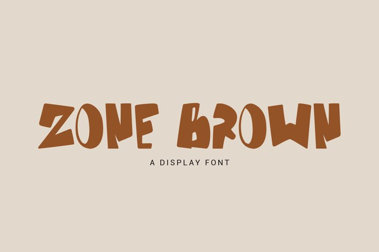 Zone Brown - Bold Display Font example image 1