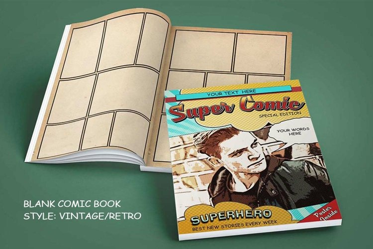Blank Comic Book Interior Pages & Covers JPG-PDF-PSD-PNG example