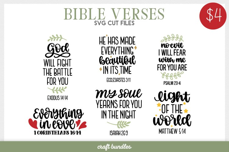 Bible Verses SVG Cut Files example image 1