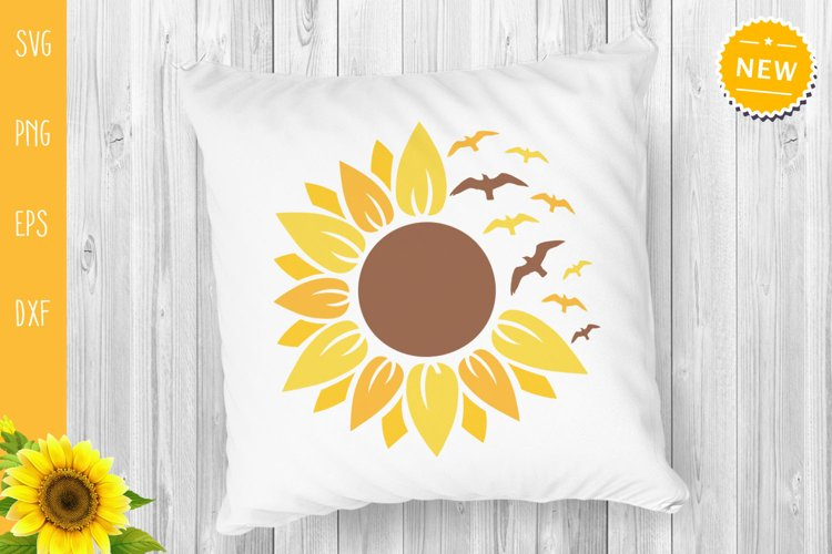 Sunflower Bundle Svg, Sunflower Svg, Sunflower Monogram Svg example 2