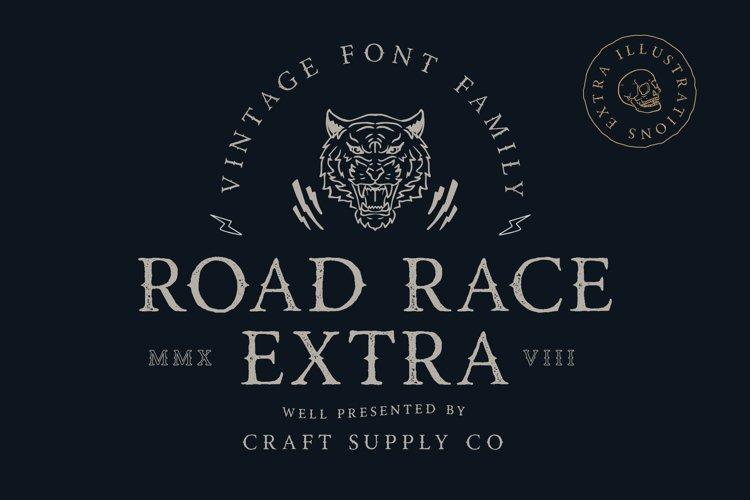 Road Race Extra Font Family Bonus Illustrations example image 1