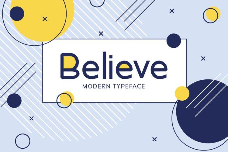 Believe example image 1