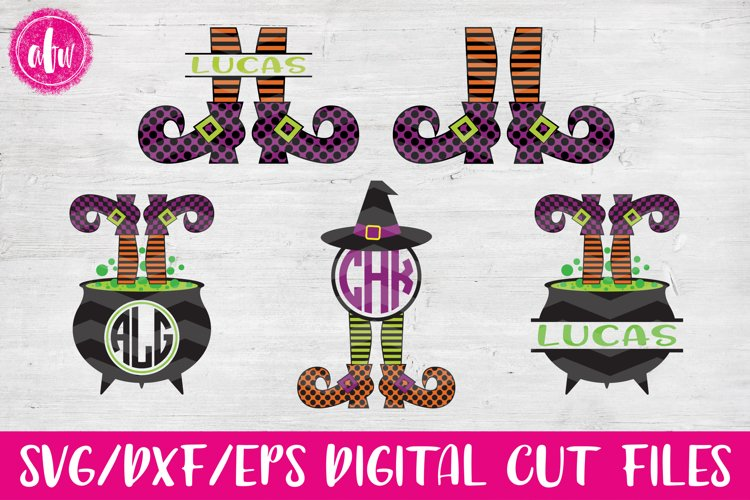 Witch Legs Bundle - SVG, DXF, EPS Cut Files example image 1