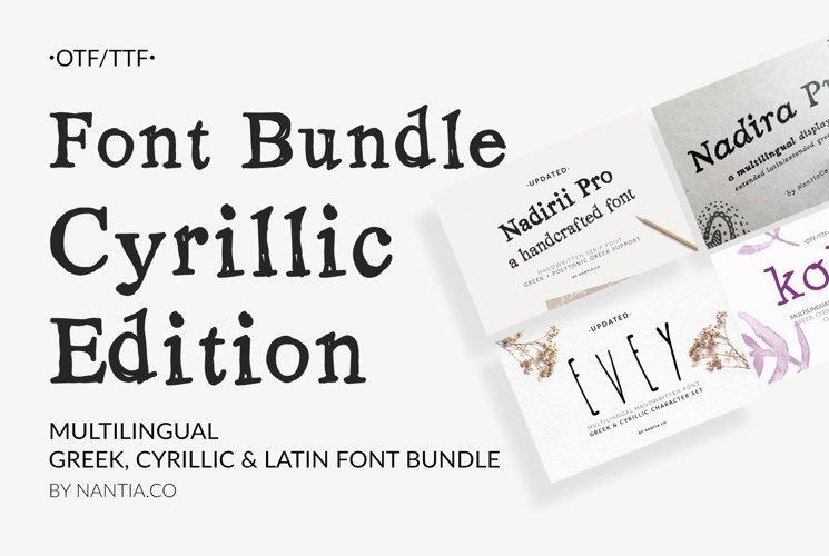 Cyrillic Font Bundle